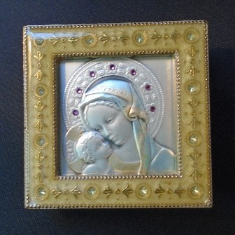 Salerni Madonna and Child Gold Enamel Picture